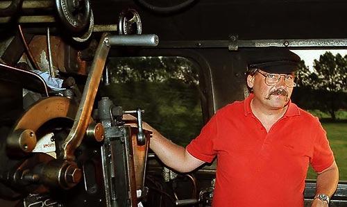 Der Autor am Regler - Dampflokfan, Globetrotter und Fotograf