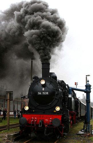 Rauchpilz über dem Thüringer Wald