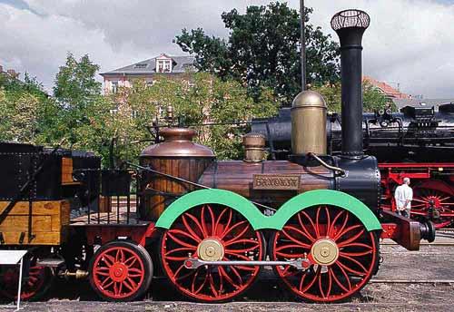 Die Saxonia - Nachbau der ersten in Deutschland produzierten Dampflok