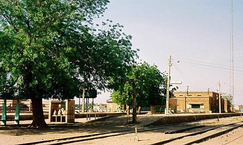 Der Bahnhof von Shendi, nördlich von Khartoum