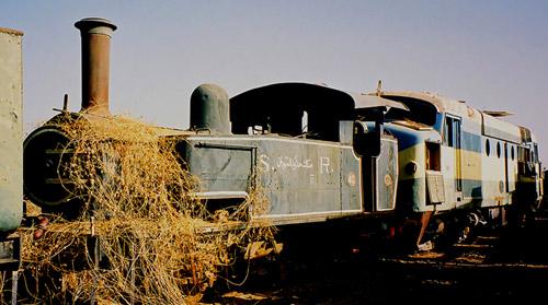 Dampflok der Sudan Rail im Ausbesserungswerk Atbara