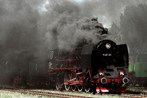 Pt 47-65 auf dem Dampflokfest in Wolsztyn im Jahr 2000 in Polen.