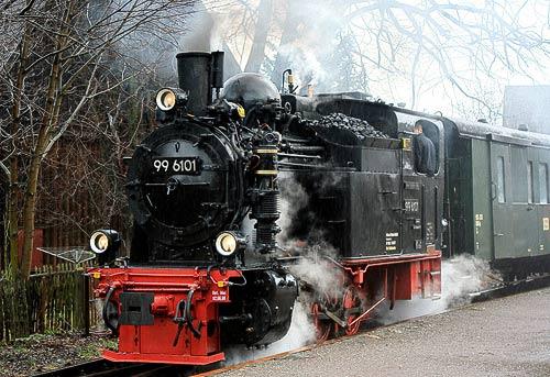 'Pfiffi' im Einsatz auf der Harzquerbahn