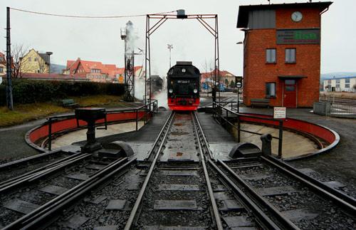 Drehscheibe am Dampfbahnhof Wernigerode