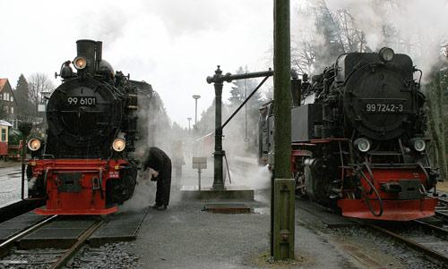 Harzer Neubaulok 99 7242 am Wasserkran in Drei Annen Hohne