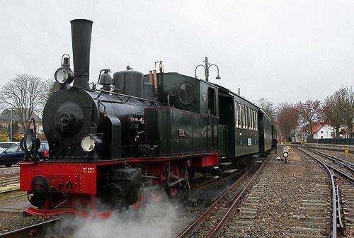 Der Nikolauszug kurz vor der Abfahrt in Bruchhausen-Vilsen