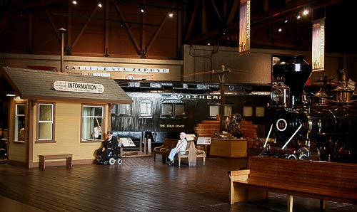 So war's im 'Wilden Westen' nachgestellt im California State Railroad Museum
