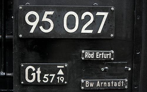 Typen- und Heimatschilder der 95 027