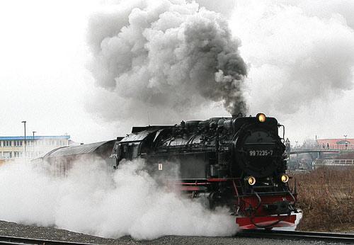 'Fullsteam' kurz vor Wernigerode-Westerntor - 99 7235