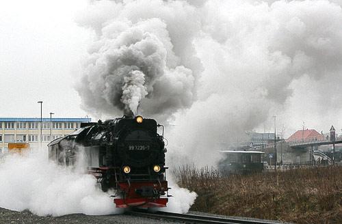 Volldampf-Spektakel kurz vor Wernigerode-Westerntor