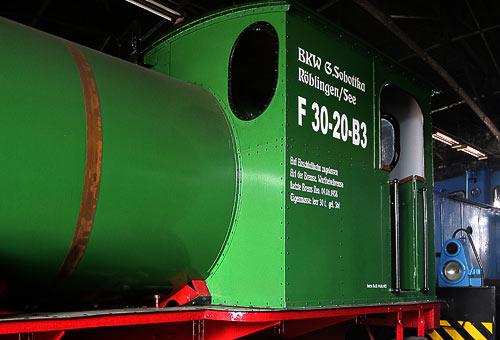Führerhaus der Dampfspeicherlokomotive C-FL vom Typ Helmstedt 1