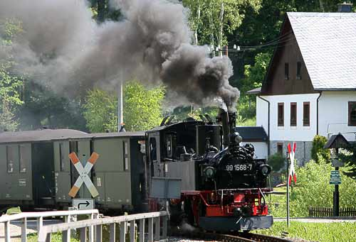 Sächsische IV K der Pressnitztalbahn in Schmalzgrube