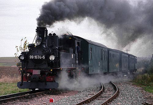 Der 'Wilde Robert' der Döllnitzbahn vor Mügeln