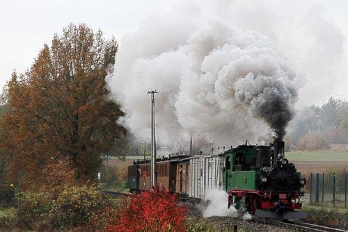 Motivbeispiel Eisenbahn-Souvenirs – Traditionsbahn Radebeul – Volldampf in Sachsen