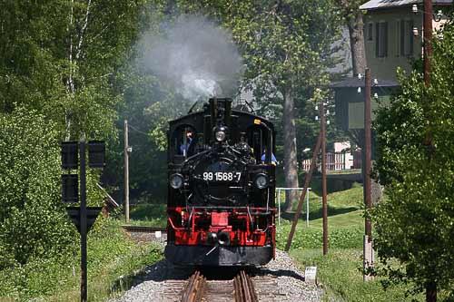 Erzgebirgsdampf auf der Preßnitztalbahn
