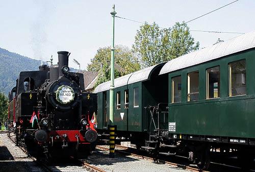 70 Jahre alt - die Dampflokomotive 88.103, gebaut in Wien-Floridsdorf