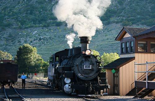 Rangierfahrt im Bahnhof Durango