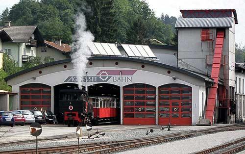 Remise der Achenseebahn in Jenbach im Inntal, Tirol