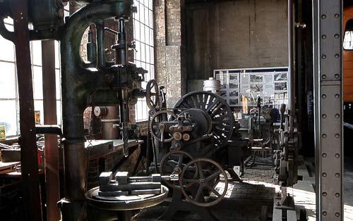 Die originalerhaltene mechanische Werkstatt in Schwarzenberg