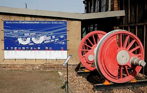 Der Eingangsbereich des heutigen Eisenbahnmuseums