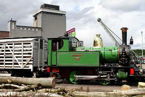 Zur Fahrt bereit - eine der ältesten Dampfloks der Niederlande - Baujahr 1901