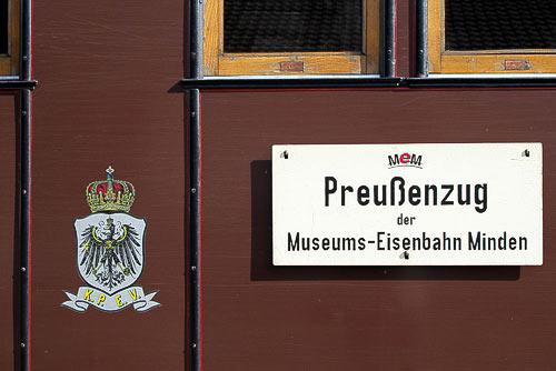 Nostalgie pur - der Preussenzug in Minden