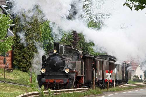 Der Preussenzug im Anstieg zum Besucherbergwerk Kleinenbremen