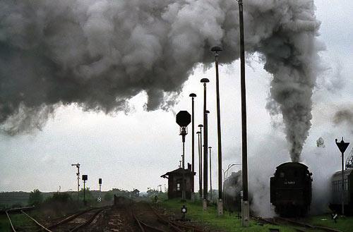 Ein dampfreiches Wochenende in Staßfurt mit der 44 1486 – Mai 1996