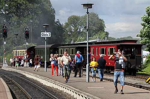 Viel los auf dem Bahnhof Wernigerode-Westerrntor