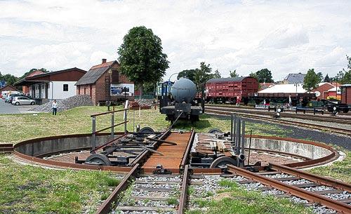 Handbetriebene Schmalspur-Drescheibe in Bruchhausen-Vilsen