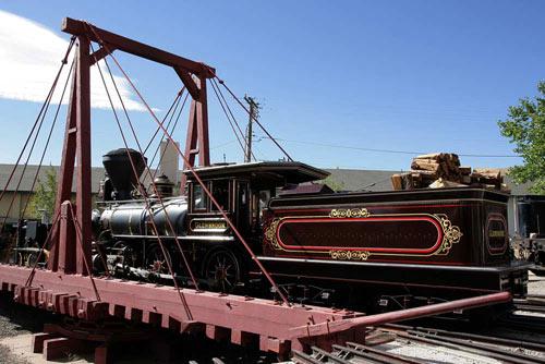 Drehscheibe im Nevada State Railroad Museum