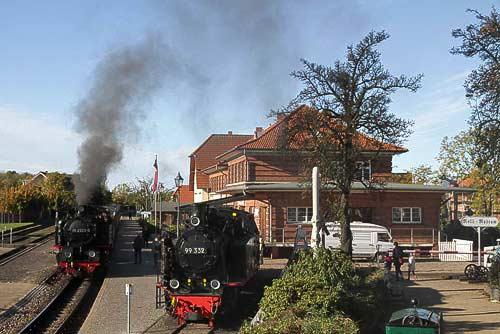 Molli startet am historischen Bahnhof von Kühlungsborn-West
