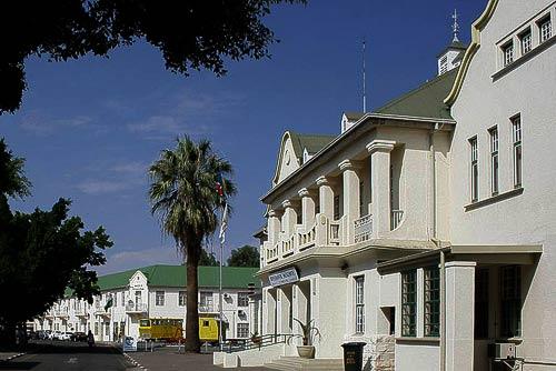 Bahnhofsgebäude aus deutscherKolonialzeit in Windhoek